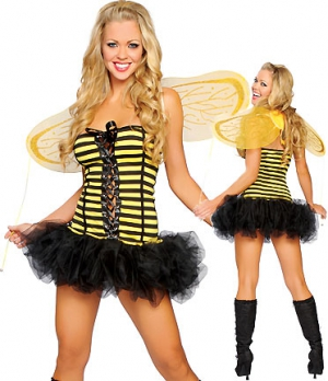 Bee girl one size