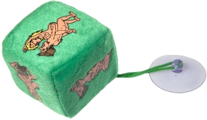 Plush dice suction