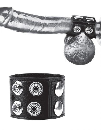 """1.5"""" Cock Ring W/ Ball Strap"""
