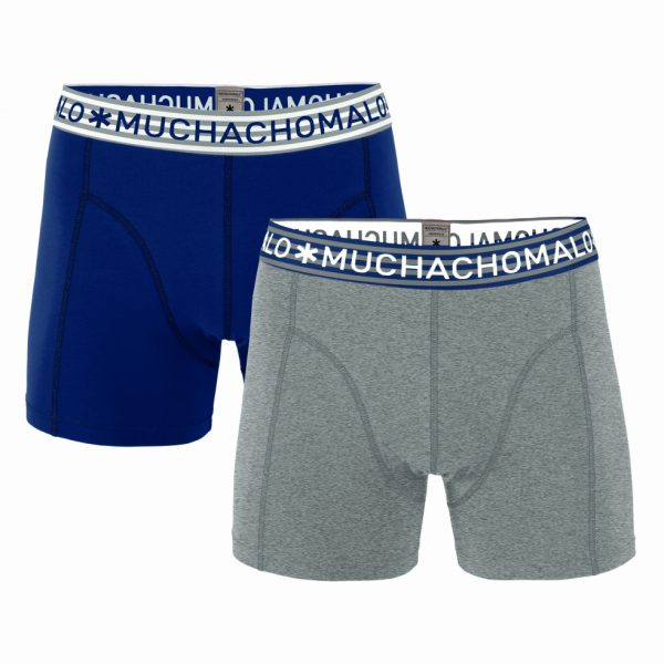 Basic Grey/Navy - 2-pack Boxershorts