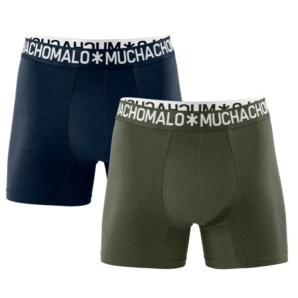 Cotton Solid Army/Navy - 2-pack Boxershorts