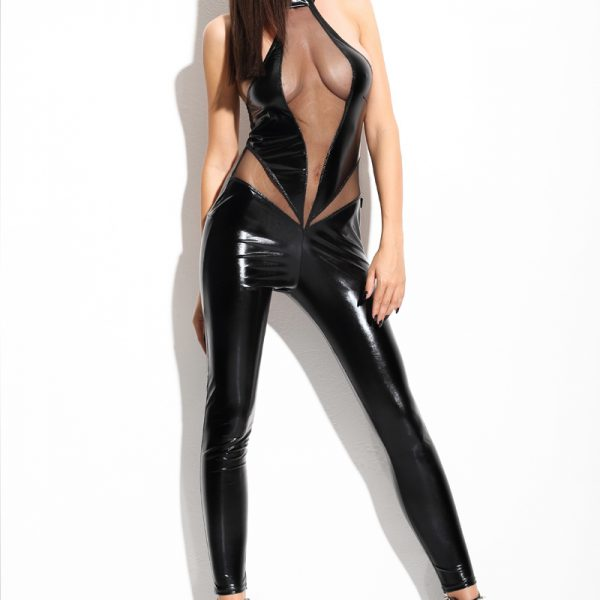 Angela black catsuit