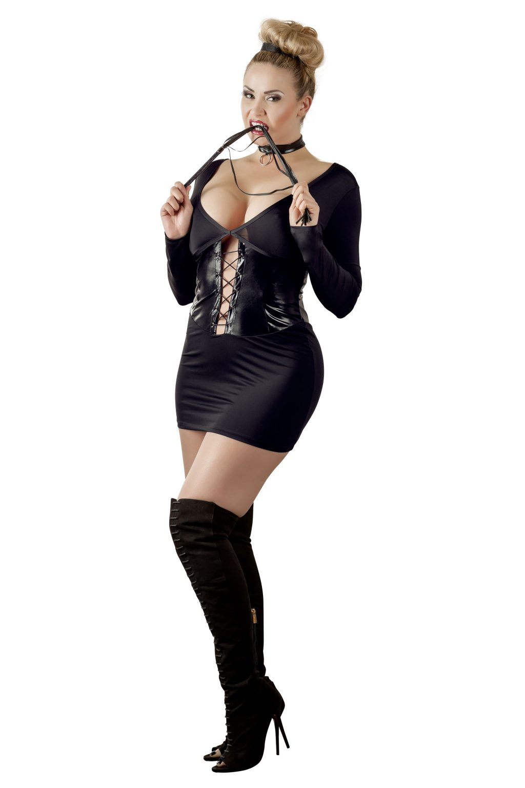 Domina Wetlook Dress + Whip