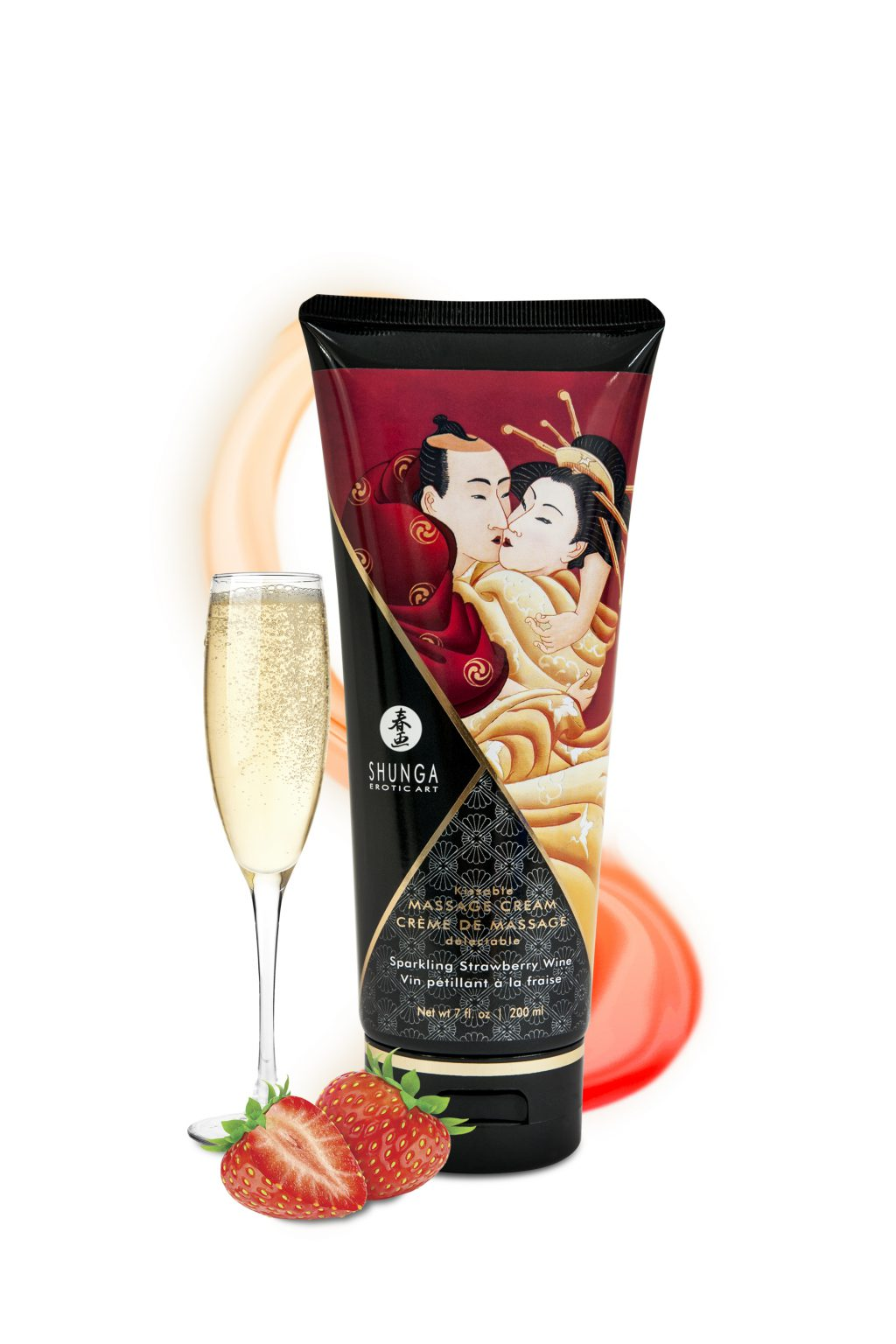 Kissable Massage Cream Strawberry Wine