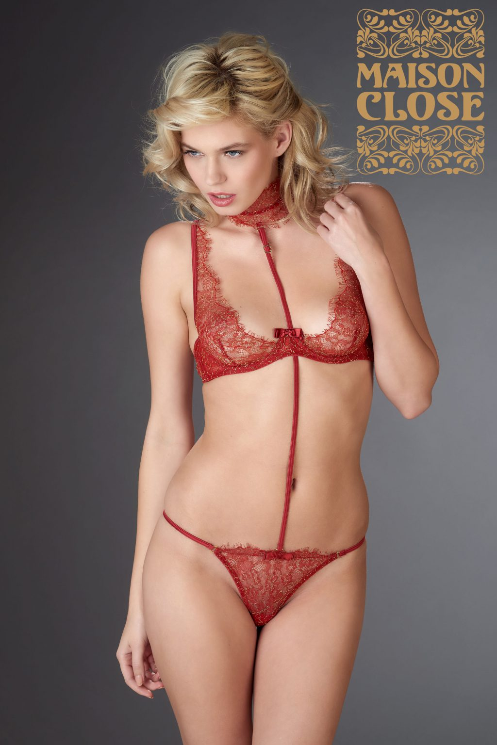 Jardin Imperial Wire Bra Red