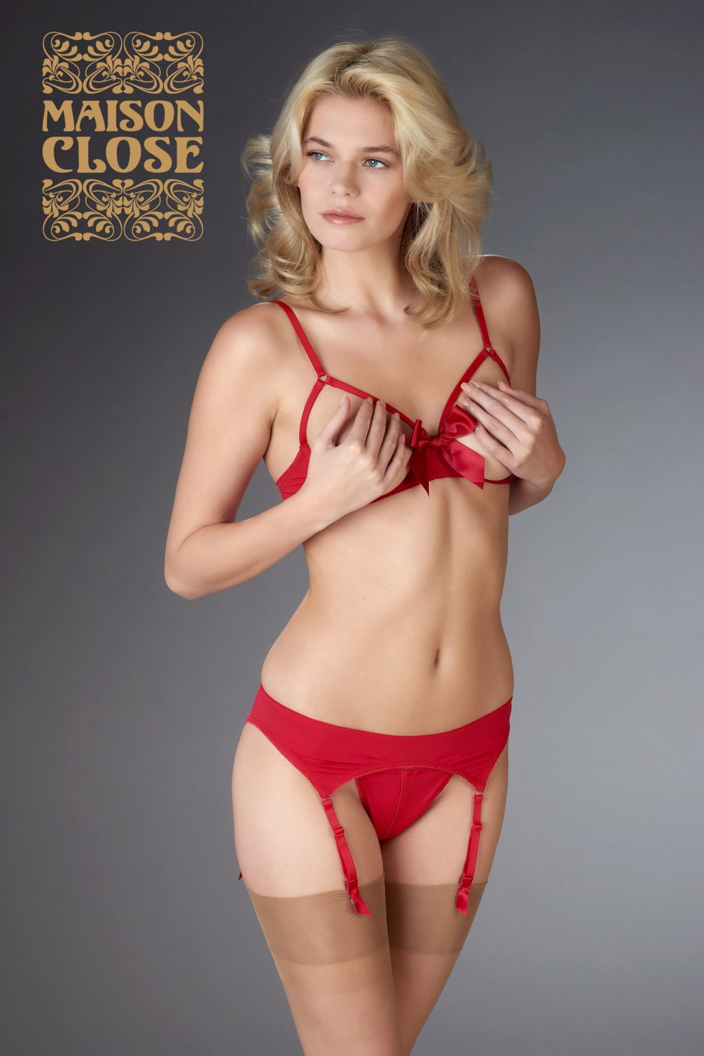 Le Petit Secrets Garter Belt Red