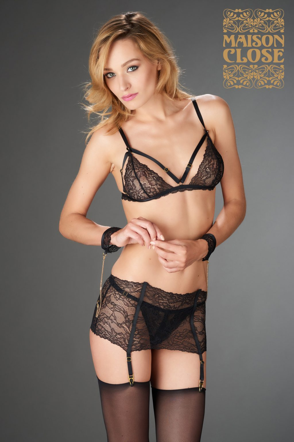 LE PETIT SECRET - GARTER BELT - BLACK