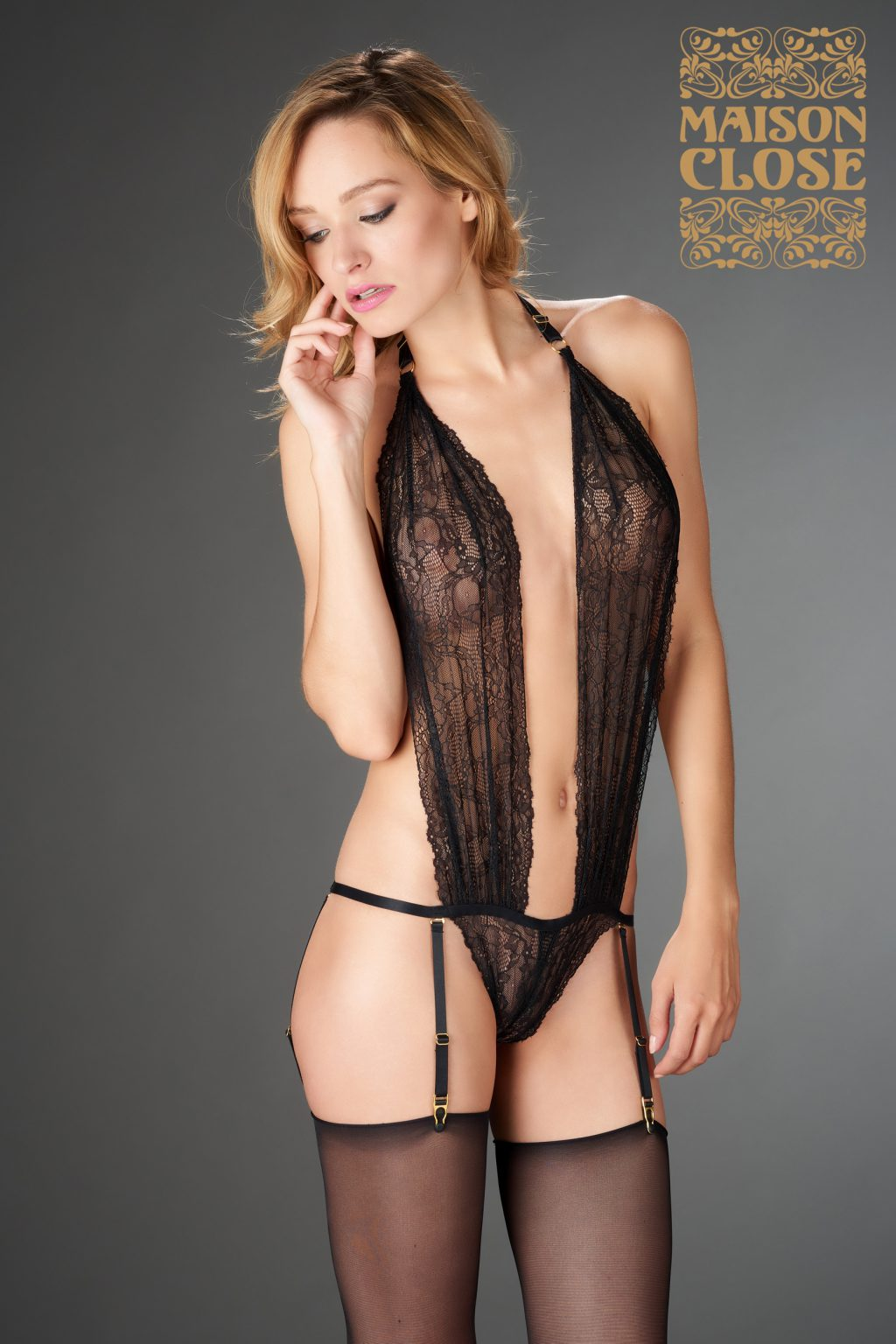 LE PETIT SECRET - THONG BODY - BLACK
