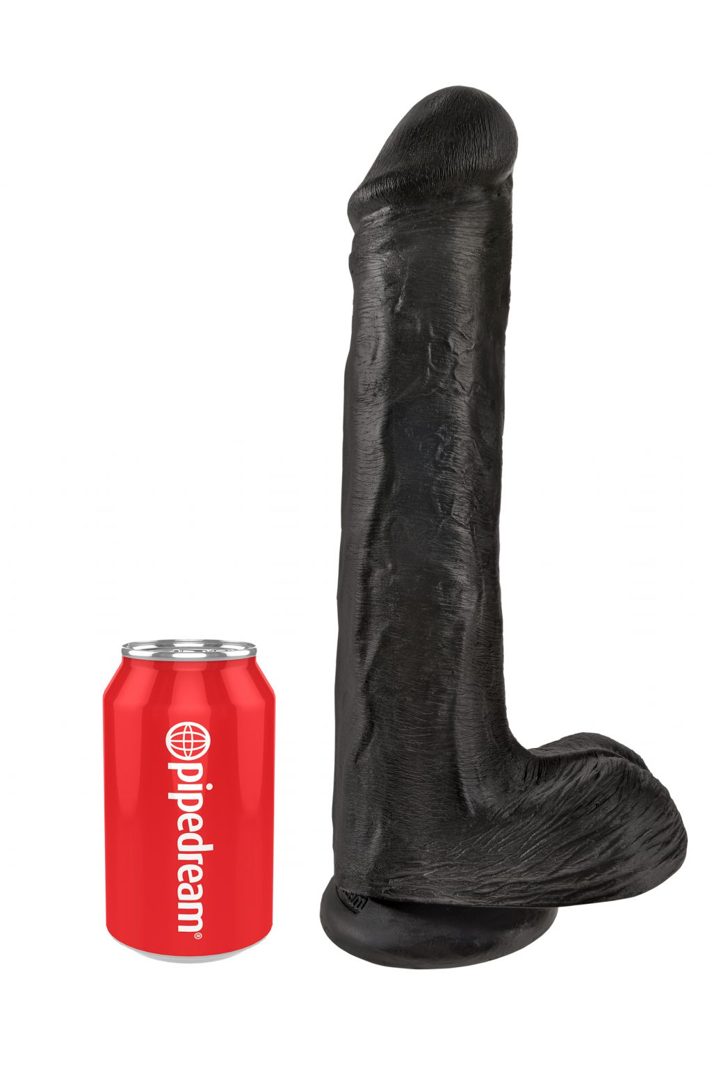 Cock with Balls 33 cm - Black