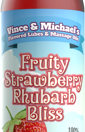 Fruity Strawberry Rhubarb Bliss - Smaksatt massageolja