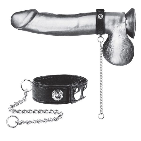 "Snap Cock Ring W/ 12"" Leash"