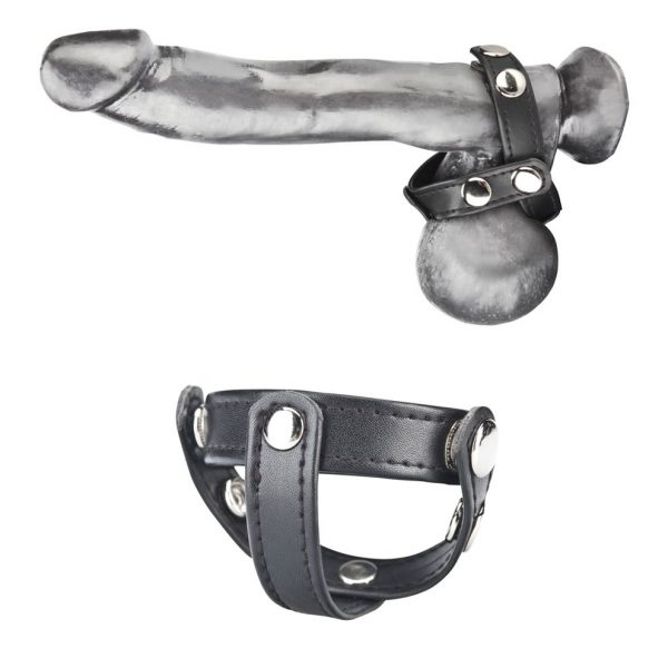 T-Style Cock Ring W/ Ball Divider