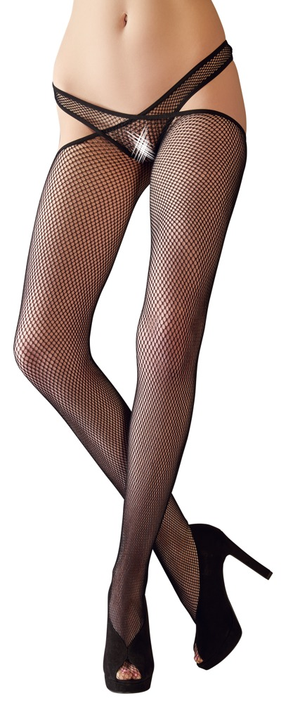 Fishnet Stockings with Waist Strap