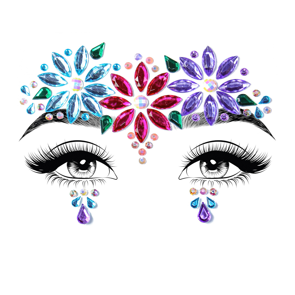 Dahlia Face Jewels Sticker
