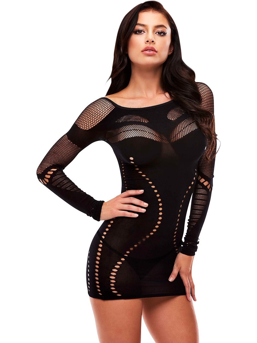 Lapdance: Long Sleeve Mini Dress
