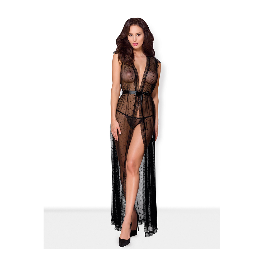 See-through Pegnoir And Thong (Storlek: Large / X-Large)