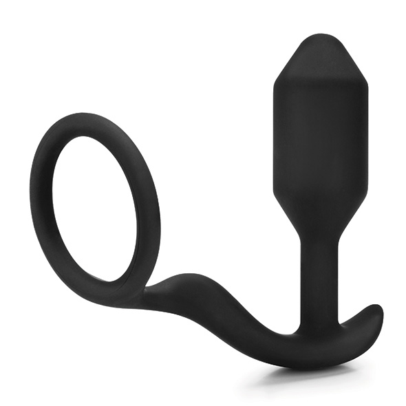 Snug & Tug - Weighted Silicone Plug And Penis Ring 128 g