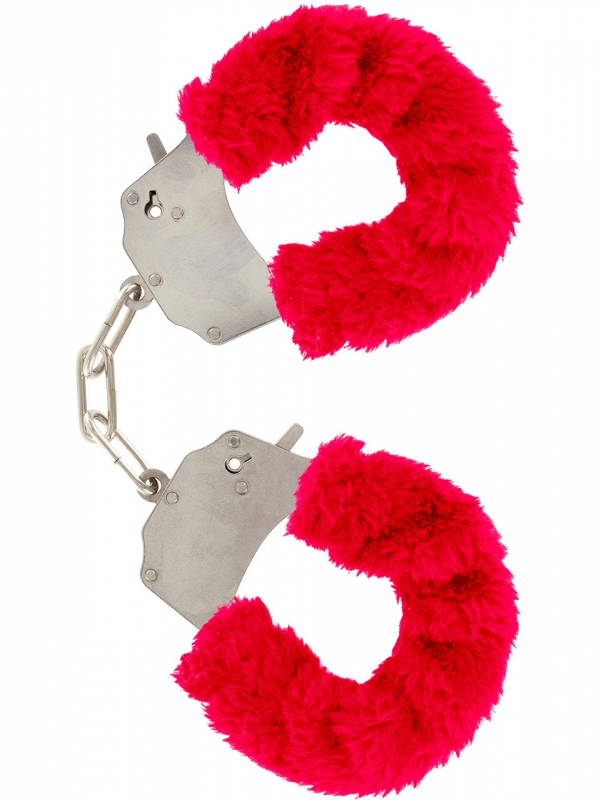 Toy Joy: Furry Fun Cuffs Plush (röd)