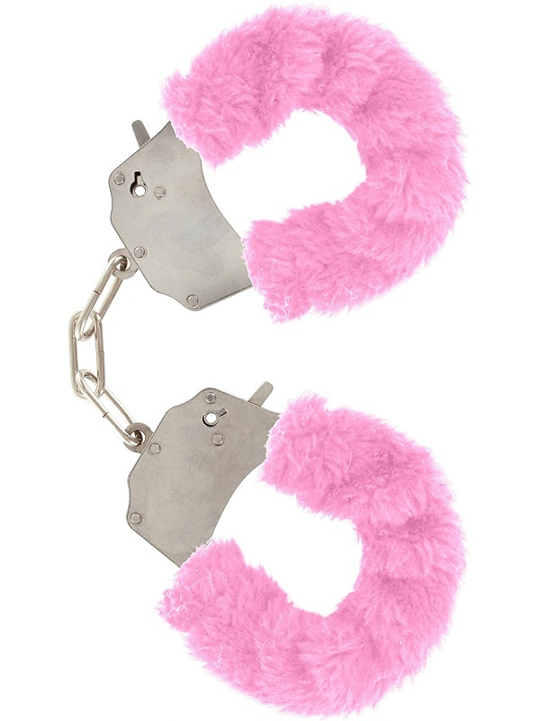 Toy Joy - Furry Fun Cuffs Plush (rosa)