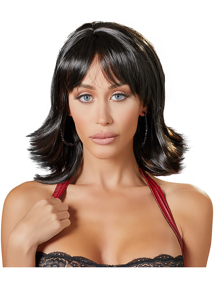 Cottelli Collection: Choppy Black Wig