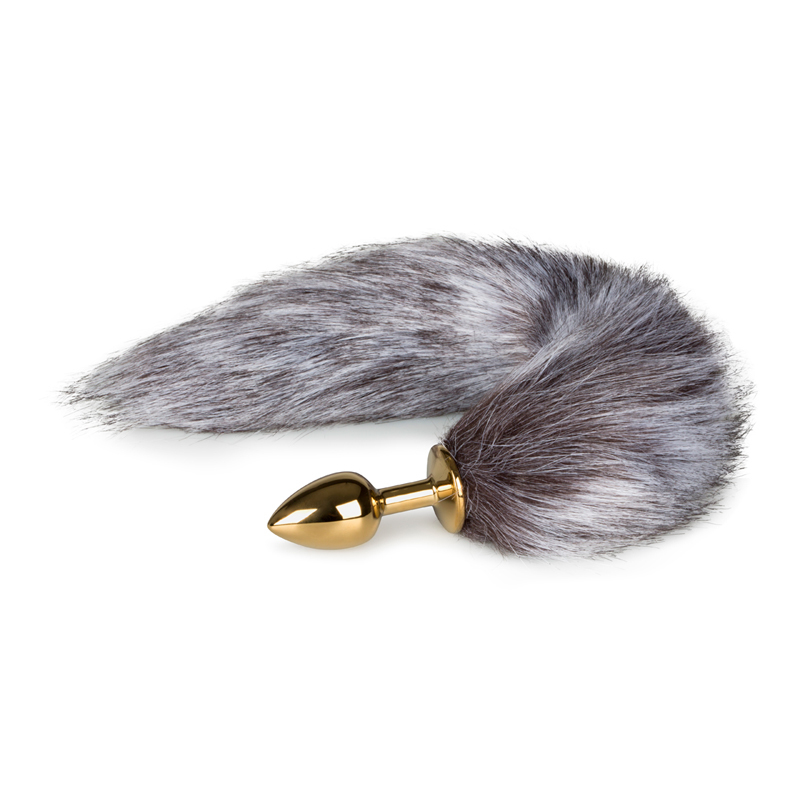 Fox Tail Plug No. 5 - Guldfärgad analplugg