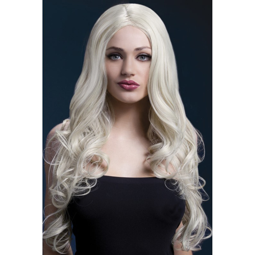 Blond Peruk - Rhianne Wig 66cm Blonde Long Soft Curl with Centre Parting