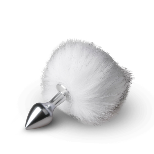 Bunny Tail Plug No. 1 - Silver/White