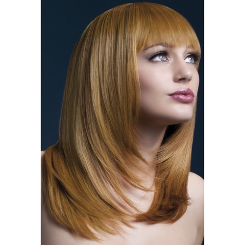 Fever Tanja Wig 48cm Auburn Feathered Cut with Fringe