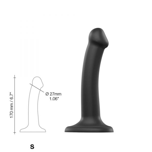 Böjbar Dildo Dual Density Small - 17 cm