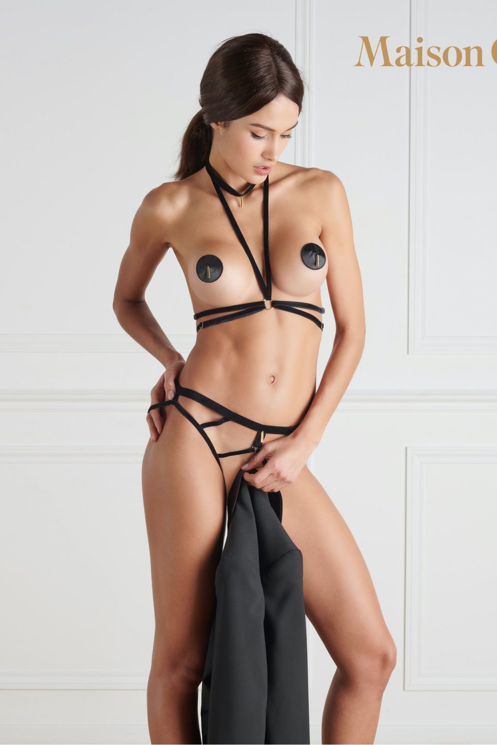 LES FETICHES - HARNESS - BLACK - ONE SIZE