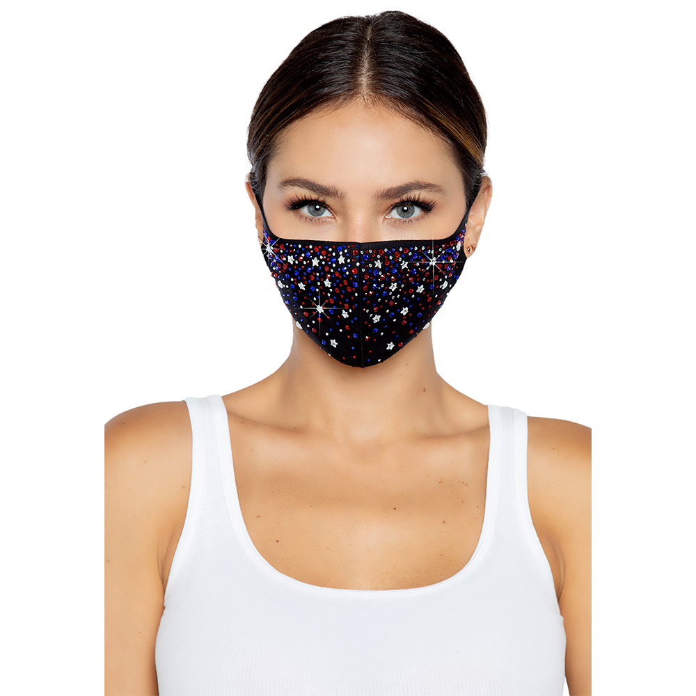 Liberty Rhinestone Face Mask