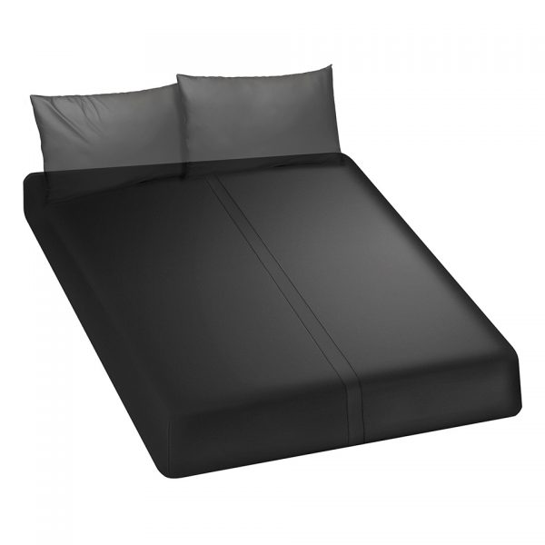 BEDDING QUEEN FITTED BLACK
