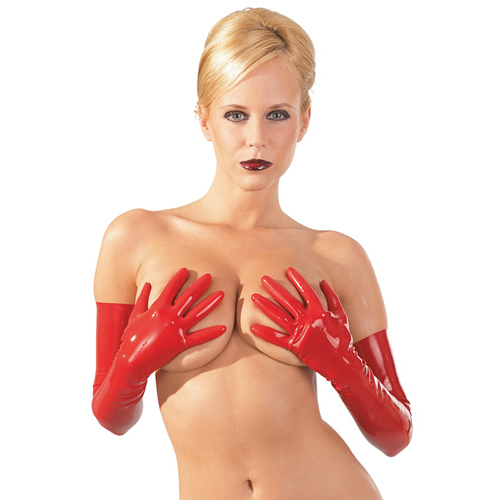 Latex Gloves red