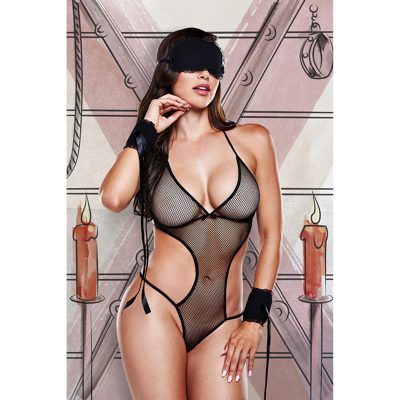 Love Slave Set Fishnet Black O/S