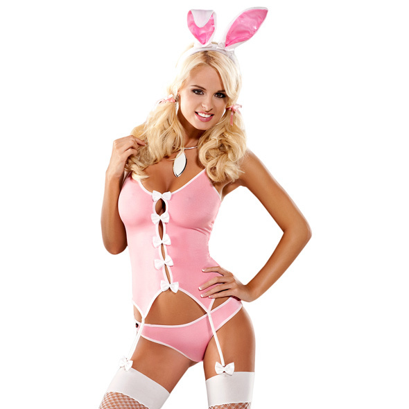 PLAYBOY DRESS - OBSESSIVE - BUNNY SUIT COSTUME - Storlek S/M