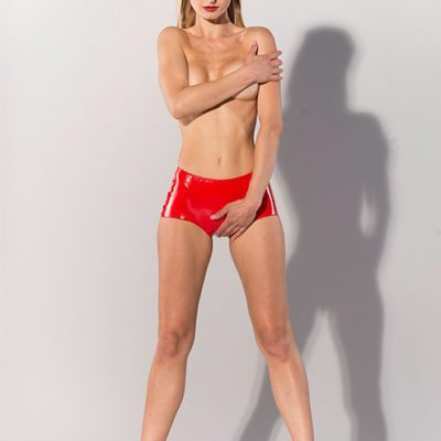 DATEX RED SHORT WITH OPEN CROTCH