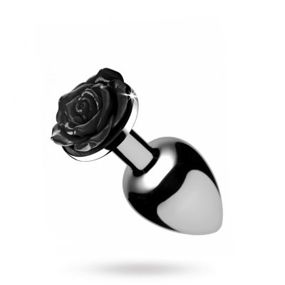 Black Rose Butt Plug - Small