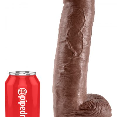 KING COCK 11 INCH W/ BALLS BROWN