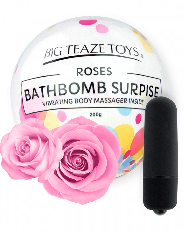 Bath Bomb Surprise with Vibrating Body Massager Rose