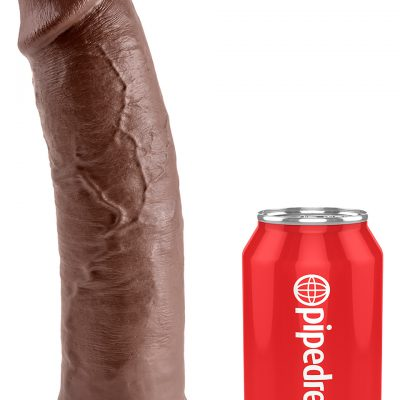 KING COCK 10 INCH BROWN DILDO