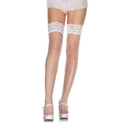 Lace Top Fence Net Thigh Highs Vit