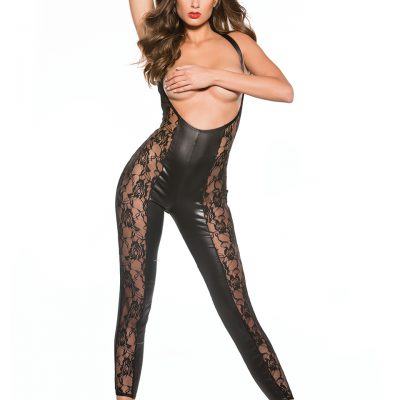 Lace & Wetlook Catsuit OS