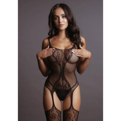 Le Désir - Fishnet & Lace Bodystocking OS