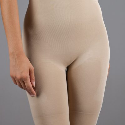 Long Leg Slimming Pants - Beige
