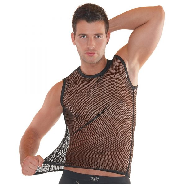 Net Tank Top Black