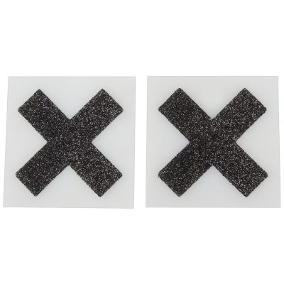 Nipple Sticker Cross Black