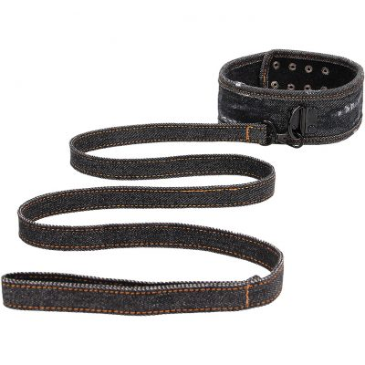Ouch!: Denim Collar with Leash