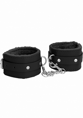 Ouch Plush Leather Cuffs