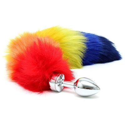Rimba: Buttplug Small with Rainbow Tail
