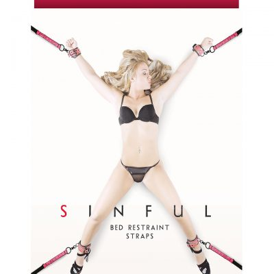 SINFUL BED RESTRAINT STRAPS PINK